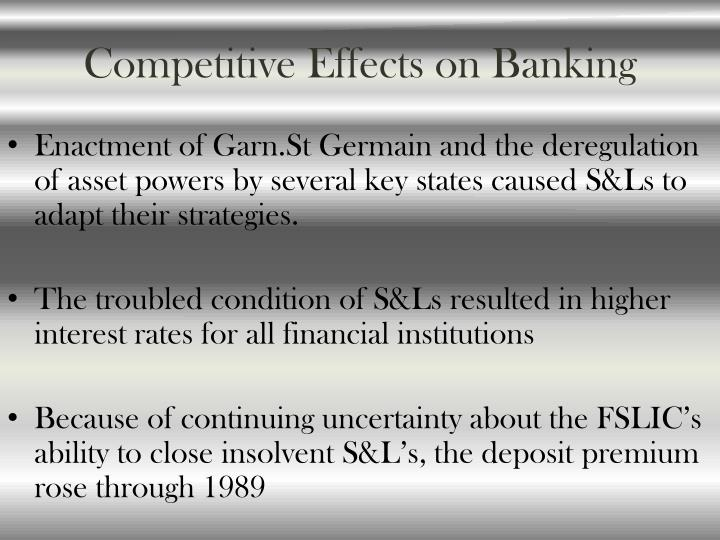 Competitive Effects on Banking