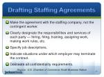 drafting staffing agreements