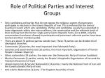 role of political parties and interest groups