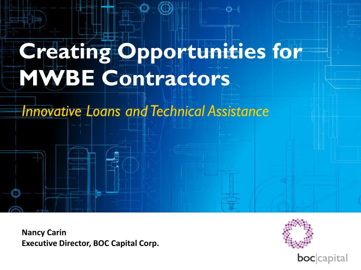 creating opportunities for mwbe contractors n.