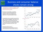 business and consumer balance sheets remain strong