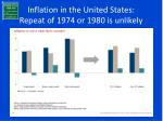 inflation in the united states repeat of 1974 or 1980 is unlikely