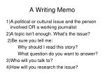 a writing memo