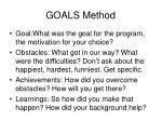 goals method