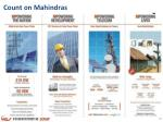 count on mahindras