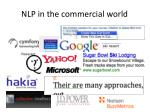 nlp in the commercial world