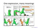 one expression many meanings