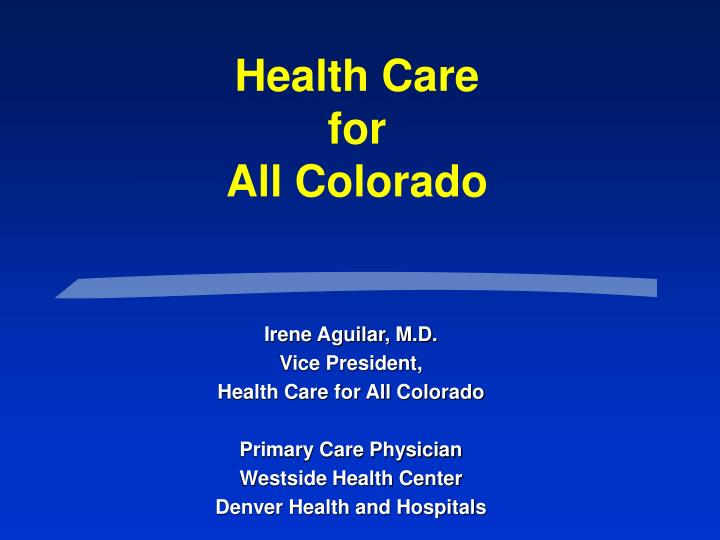 health care for all colorado n.