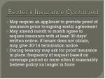 renter s insurance continued