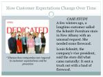 how customer expectations change o ver t ime
