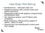 case study tech start up