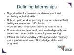 defining internships