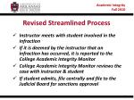 revised streamlined process