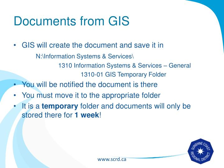 Documents from GIS