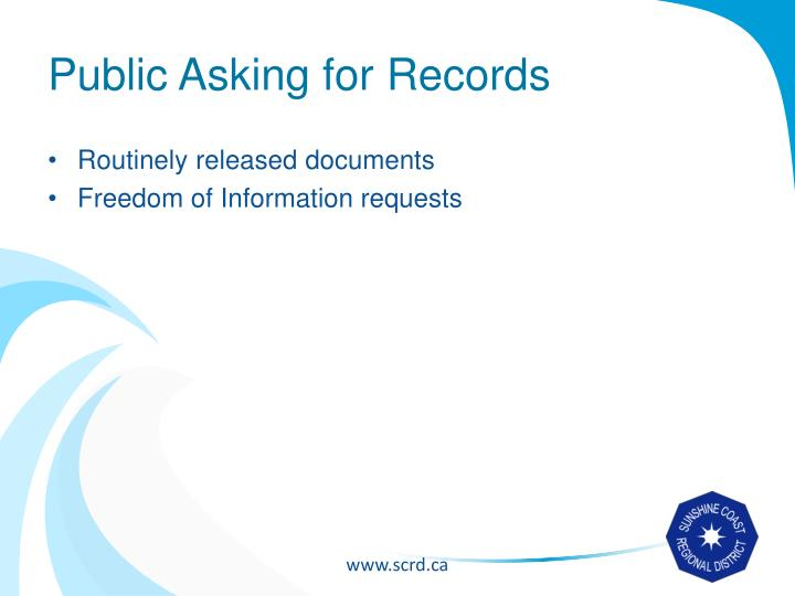 Public Asking for Records