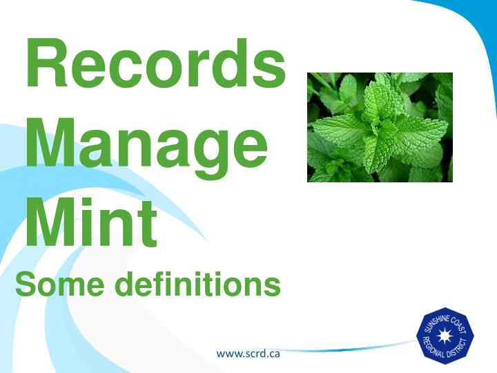 Records Manage