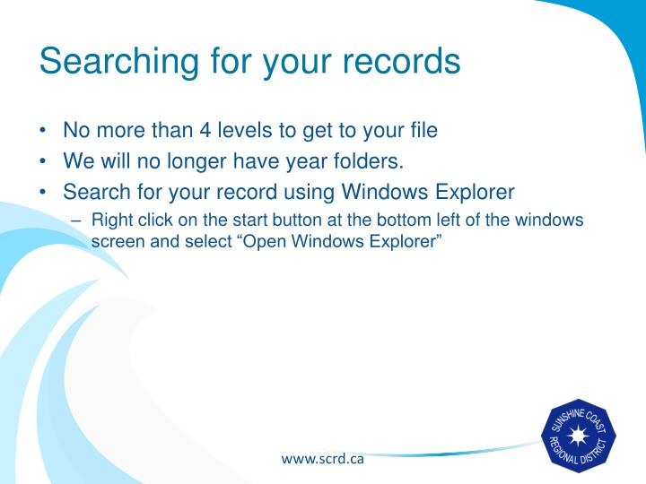 Searching for your records