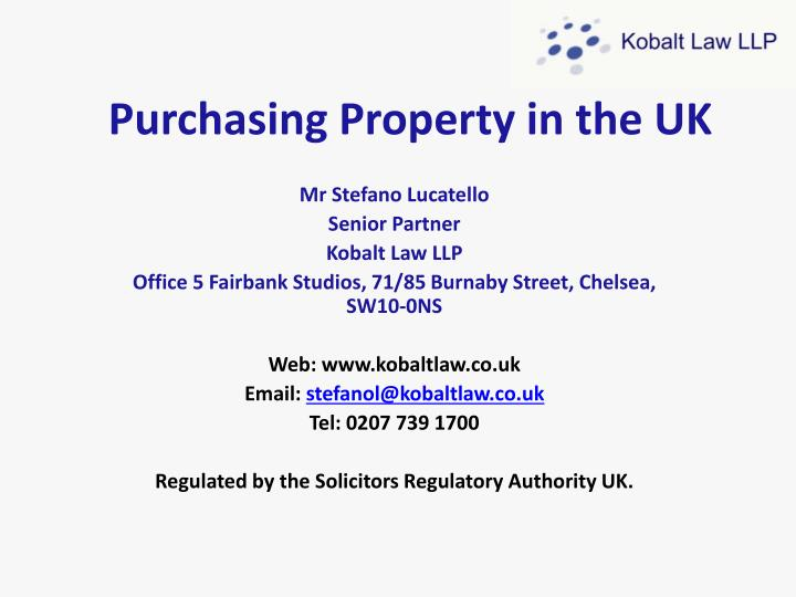purchasing property in the uk n.