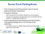 secure truck parking areas