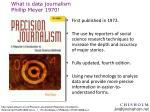 what is data journalism phillip meyer 1970