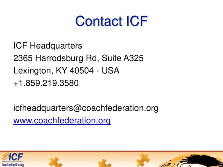 Contact ICF