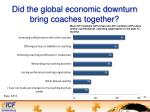 did the global economic downturn bring coaches together