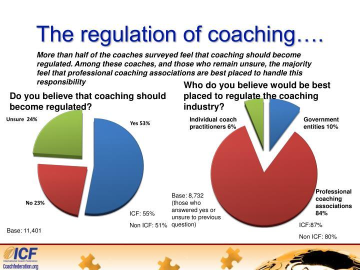 The regulation of coaching….