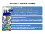 the classification of overhead