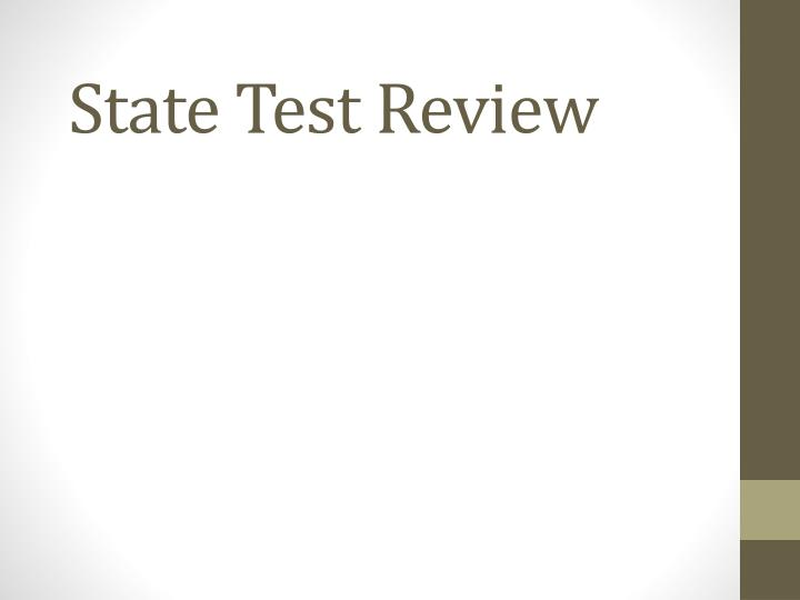 state test review n.