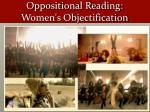 oppositional reading women s objectification1