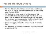 pauline literature nrsv