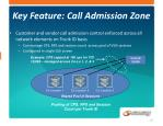 key feature call admission zone
