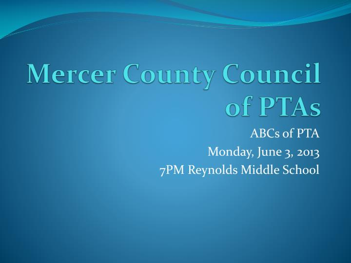 mercer county council of ptas n.