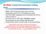 do now create documentation coding tools
