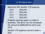 lo 3 depreciation5