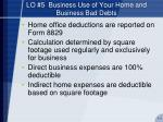 lo 5 business use of your home and business bad debts