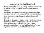 introducing medical textiles i