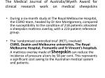 the medical journal of australia wyeth award for clinical research work on medical sheepskins