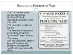 economic stresses of war