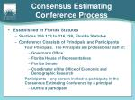 consensus estimating conference process