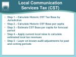 local communication services tax cst1