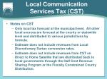 local communication services tax cst2