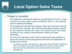 local option sales taxes1