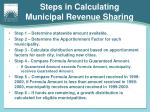 steps in calculating municipal revenue sharing