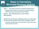 steps in calculating municipal revenue sharing1