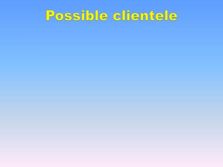 Possible clientele