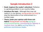 sample introduction 2