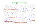 ecological economy