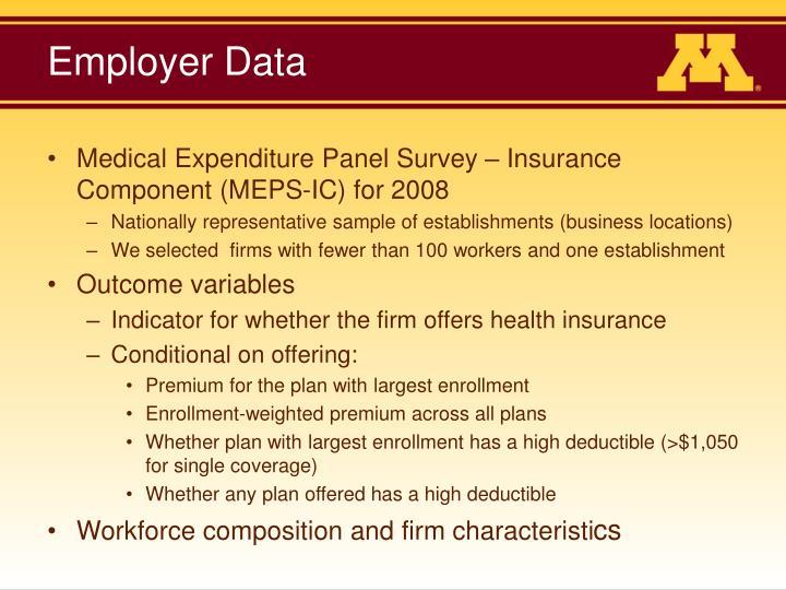 Employer Data
