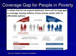 coverage gap for people in poverty